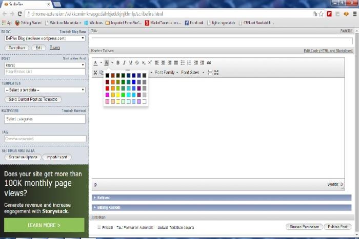 Scribefire color pallets